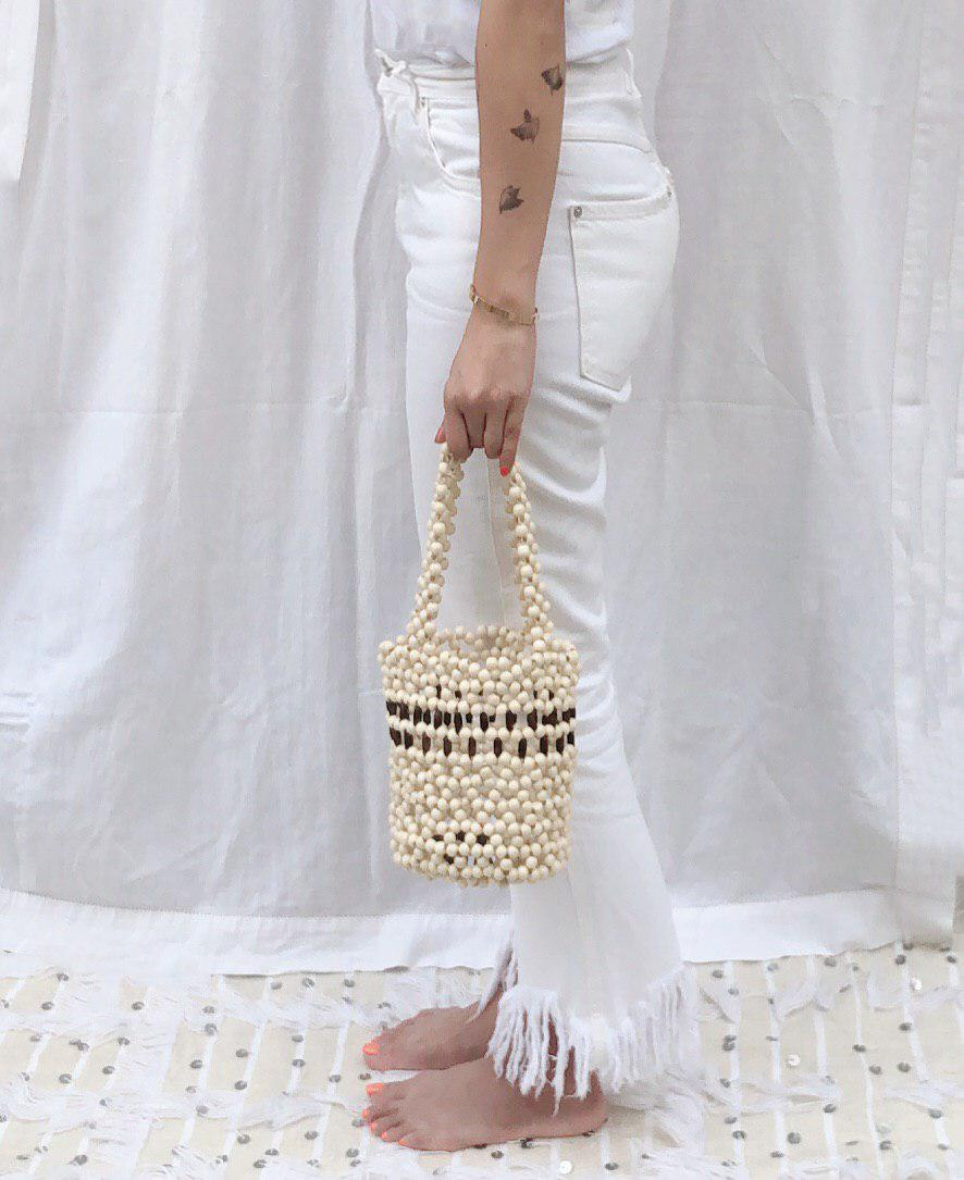 Tallulah Beaded Bucket Bag