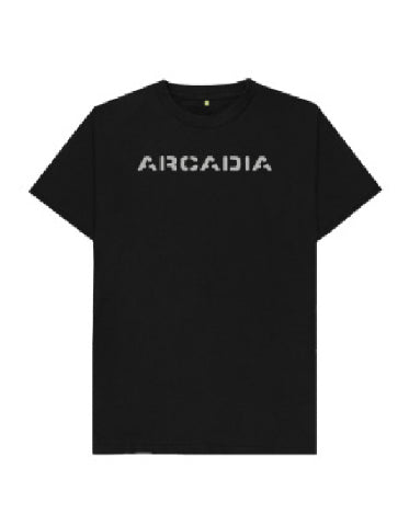 Arcadia T-shirt - Black with Sparkly Silver Print