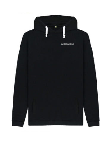 Arcadia Hoodie - Black with Sparkly Silver Print