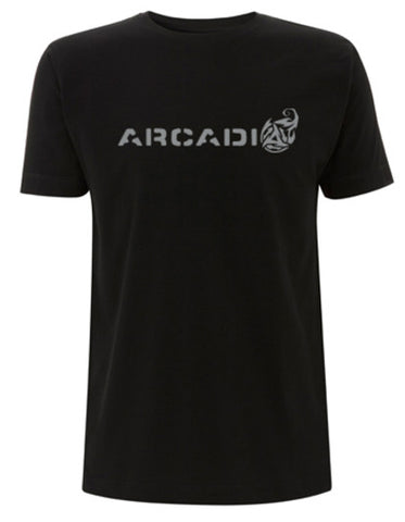 Arcadia T-shirt - Black with Silver