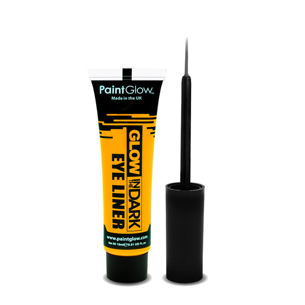 PaintGlow Neon Glow in the Dark Eyeliner with Applicator Yellow 15ml