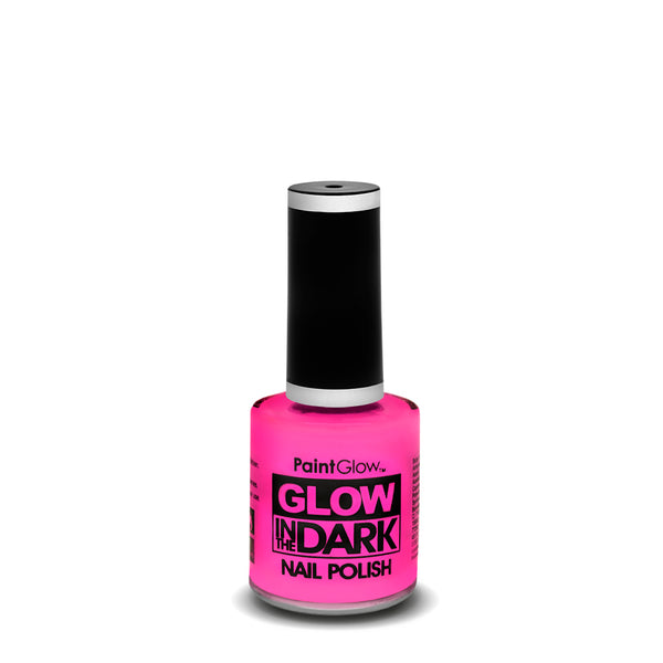 PaintGlow Neon Glow in the Dark Nail Polish Pink 10ml
