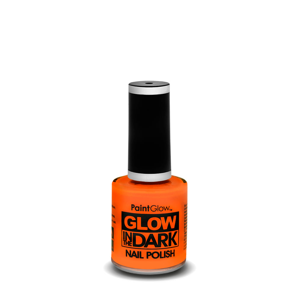 PaintGlow Neon Glow in the Dark Nail Polish Orange 10ml