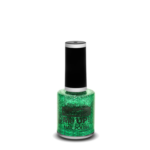 PaintGlow Glitter Nail Polish Green 10ml