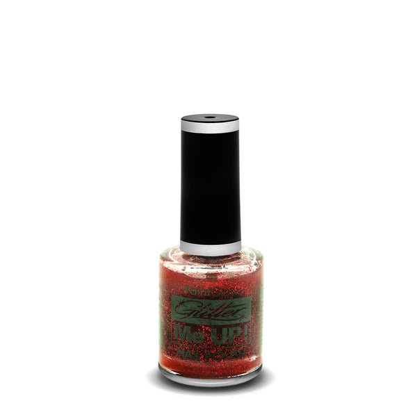 PaintGlow Glitter Nail Polish Red 10ml