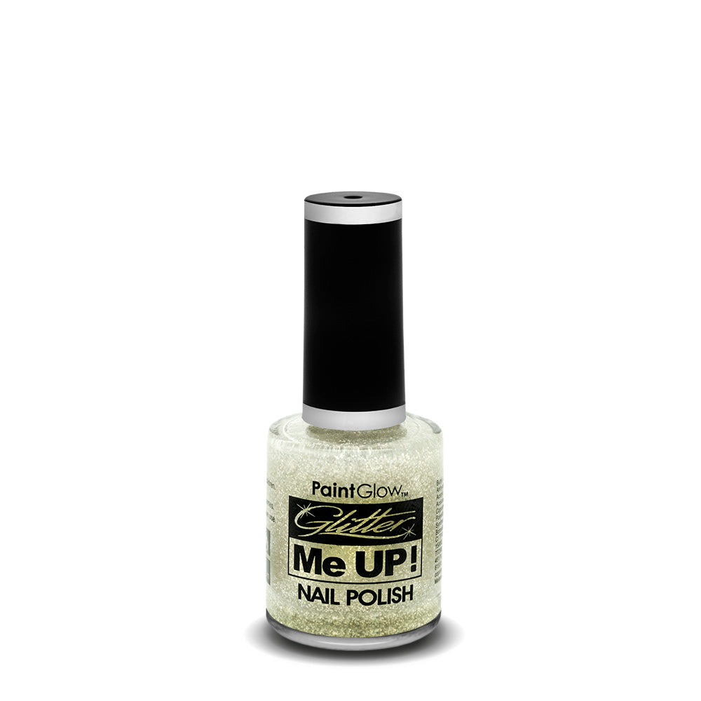 PaintGlow Glitter Nail Polish White 10ml