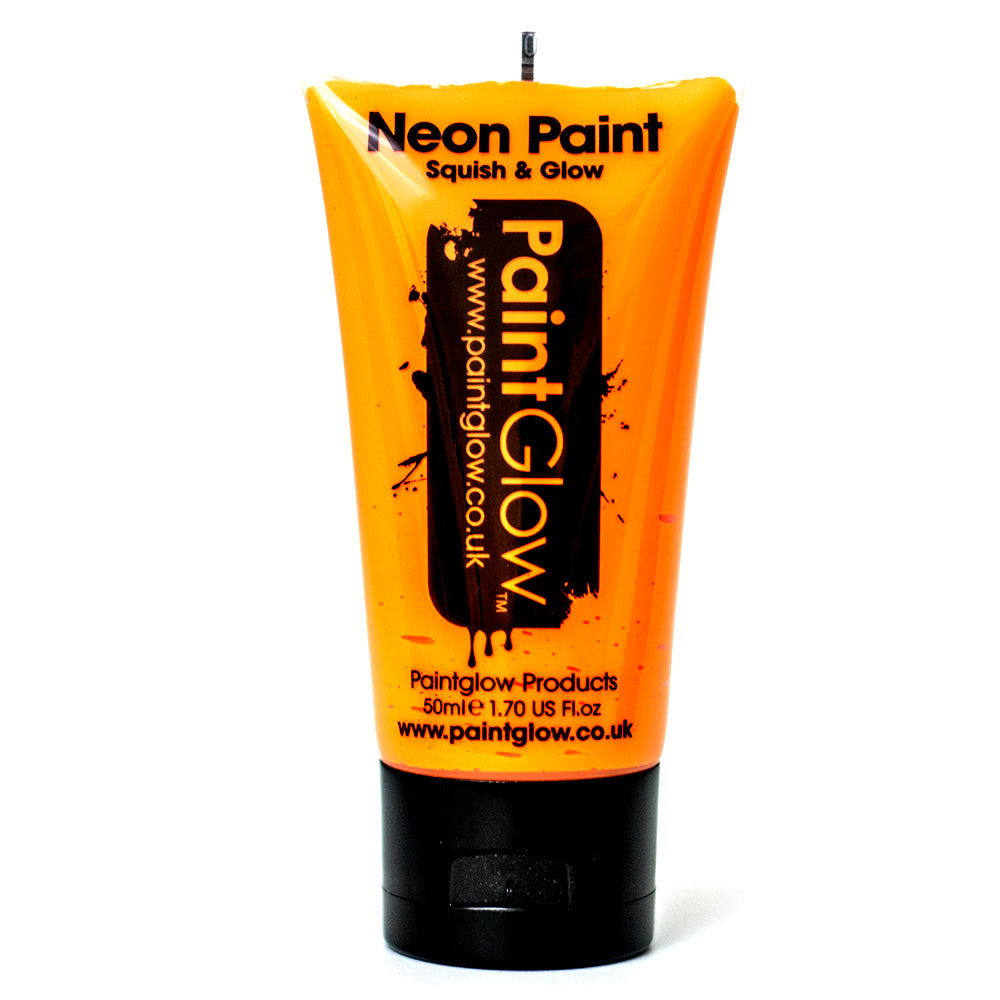 Large PaintGlow UV Paint Neon Orange 50ml