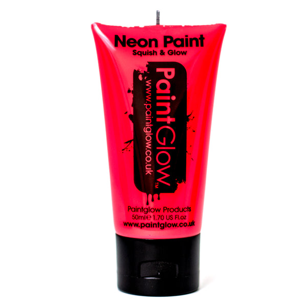 Large PaintGlow UV Paint Neon Red 50ml