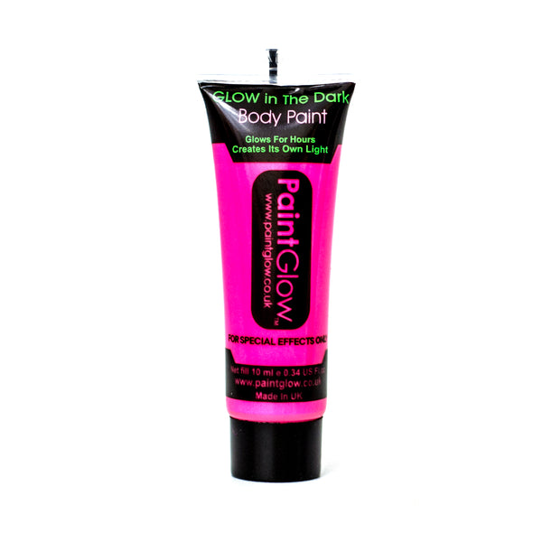 Paintglow UV Glow in the Dark Body Paint Neon Pink 10ml