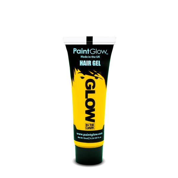 PaintGlow Neon Glow in the Dark Hair Gel Yellow 10ml