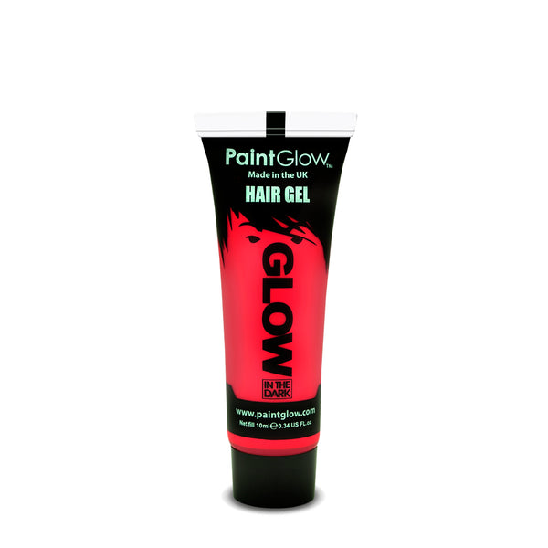PaintGlow Neon Glow in the Dark Hair Gel Red 10ml