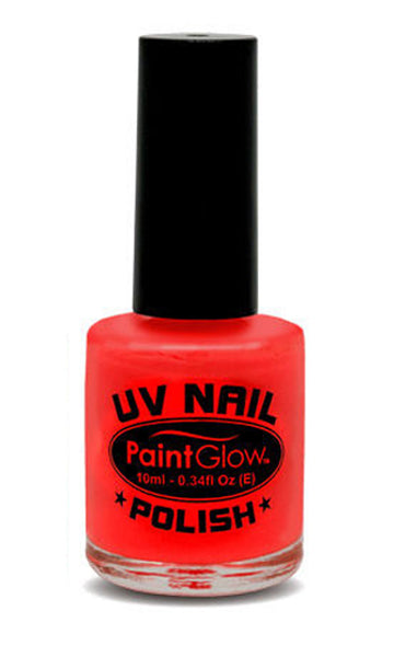 Paintglow UV Nail Polish Neon Red 10ml