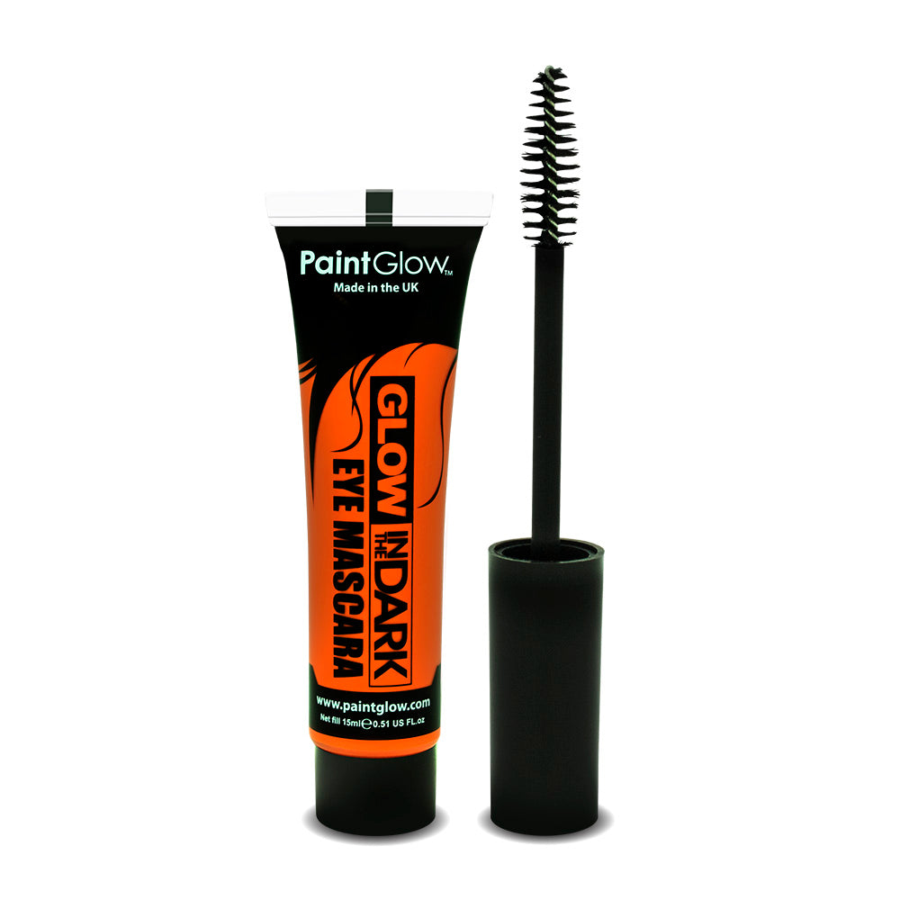 PaintGlow Neon Glow in the Dark Eye Mascara Orange 15ml