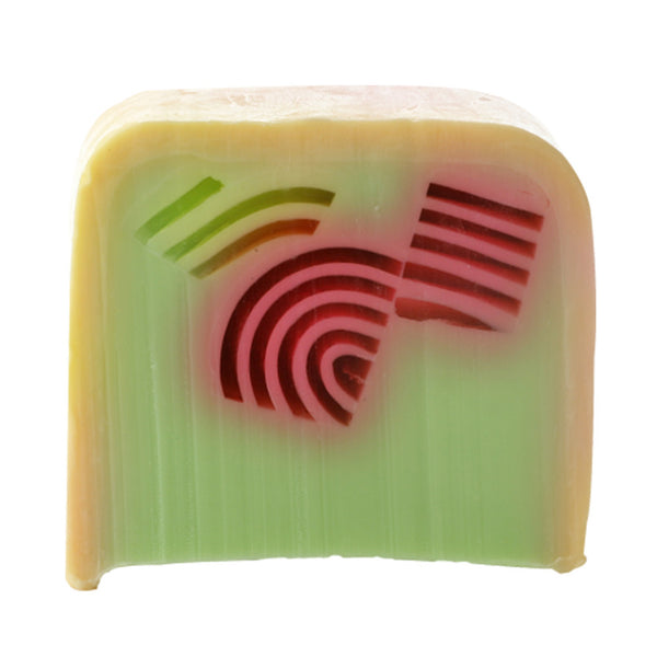 Bomb Cosmetics Rhubarb Rainbow Soap Slice 100g