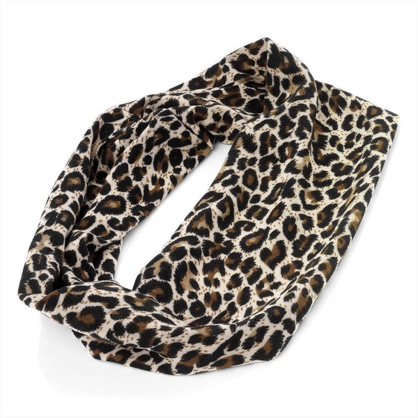 Stretch Head Wrap - Brown Tones Animal Print  8cm