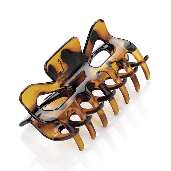 Womens Tortoiseshell Square Design Medium Size Hair Claw Clip Clamp 9cm