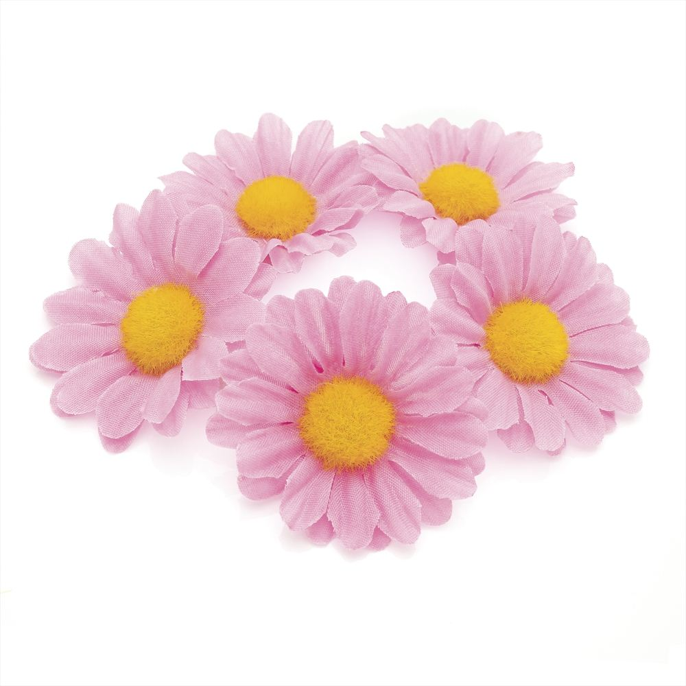 Flower Hair Elastic - Pink 4.5cm