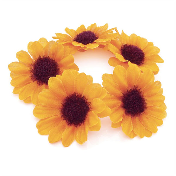 Flower Hair Elastic - Yellow 4.5cm