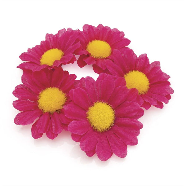 Flower Hair Elastic - Fuchsia 4.5cm