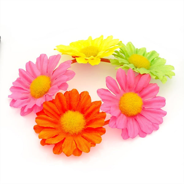 Flower Hair Elastic - Neon Assortment 4.5cm