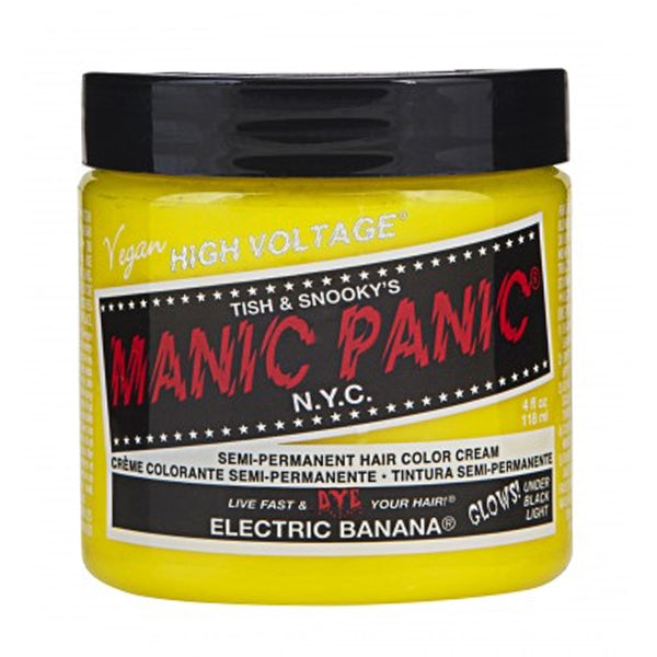 Manic Panic High Voltage Classic Cream Formula Hair Color Electric Banana 118ml