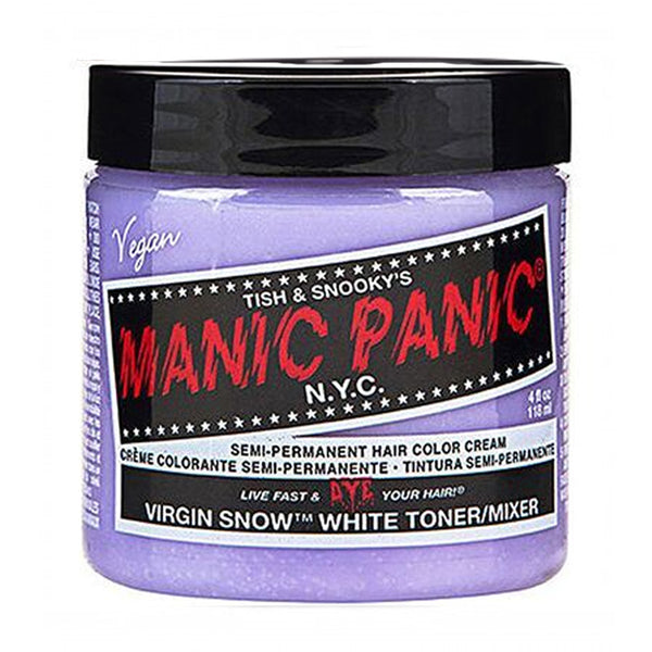 Manic Panic High Voltage Classic Cream Formula Hair Color Virgin Snow Toner 118ml