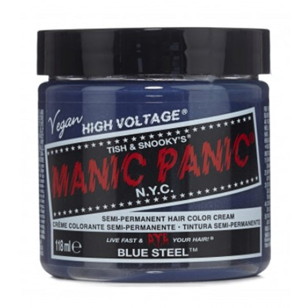 Manic Panic High Voltage Classic Cream Formula Hair Color Blue Steel 118ml