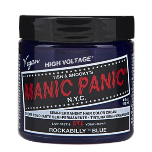 Manic Panic High Voltage Classic Cream Formula Hair Color Rockabilly Blue 118ml
