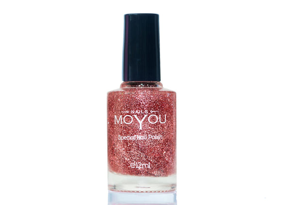 MoYou  Nail Art Special Stamping Nail Polish Glitter Top Coat 12ml
