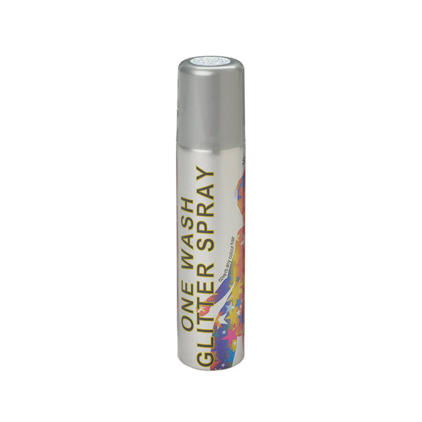 Stargazer Glitter Hair Spray One Wash Temporary Colour White 75ml