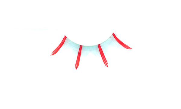 Stargazer False Feather Eyelashes No.41 Red and Light Blue