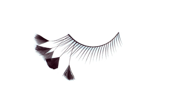 Stargazer False Feather Eyelashes No.44 Black with Side Feathers