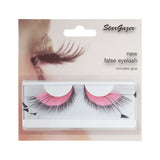 Stargazer False Feather Eyelashes No.53 Pink and Black Side Feathers