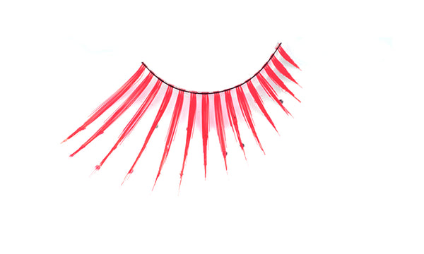 Stargazer False Feather Eyelashes No.58 Red and Diamonte