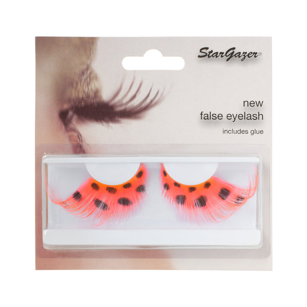 Stargazer False Feather Eyelashes No.66 Red and  Spots
