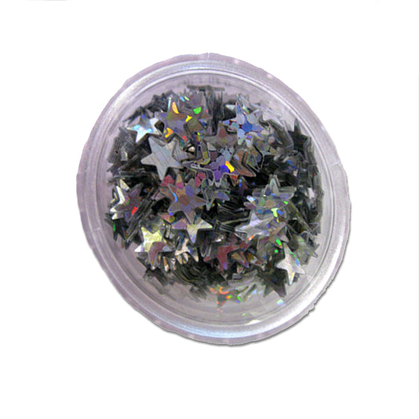 Stargazer Face and Body Glitter Stars Silver 2g