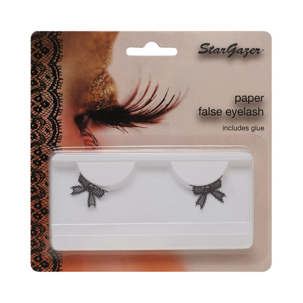 Stargazer Paper False Eyelashes Black Bows