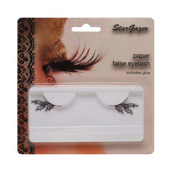 Stargazer Paper False Eyelashes Black Feathers