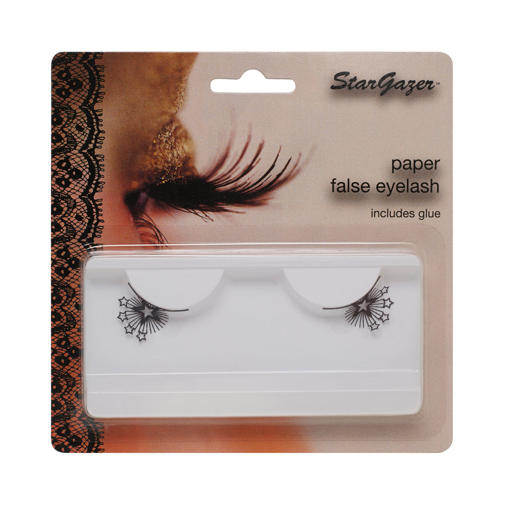 Stargazer Paper False Eyelashes Black Stars