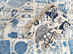 Stowe & So Tea Towel Set: Philosophy 101 in Blues