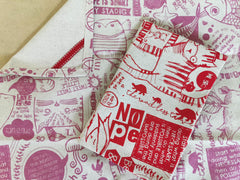 Stowe & So Tea Towel Set: Philosophy 101 in Pink and Red