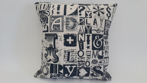 Stowe and so Letter Set Scatter Cushion: 45cm x 45cm ( Excluding inner)