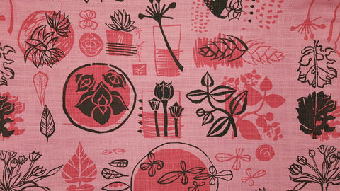 Stowe & so Table Cloth. Collectors on Pink.