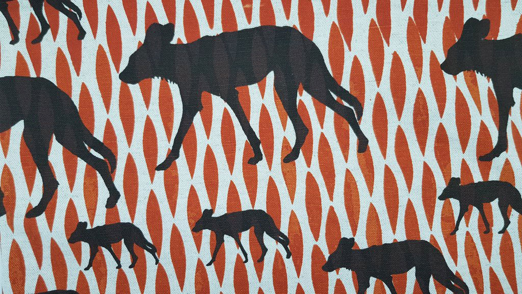Stowe & so Table Cloth. Wild Dog Design.