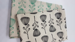 Stowe & so Tea Towel. Pincushion Protea. Set of two.