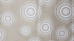 Stowe & so Table Runner. Ripple White on Stone.