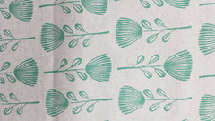 Stowe & so Table Runner. Pin Cushion Protea Teal on Stone.
