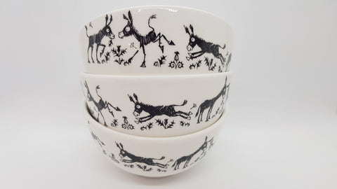 Stowe & so Ceramic Bowl Donkeys