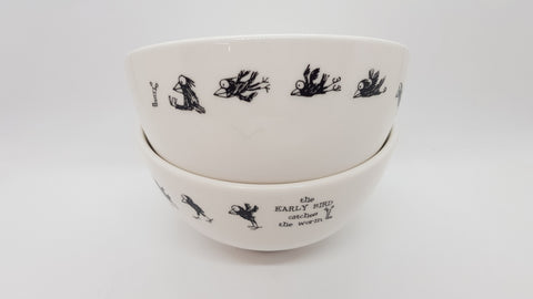 Stowe & so Ceramic Bowl Black Birds