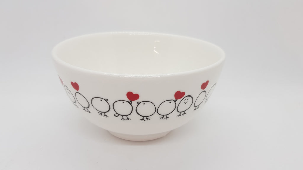 Stowe & so Ceramic Bowl Chicks in Love Design